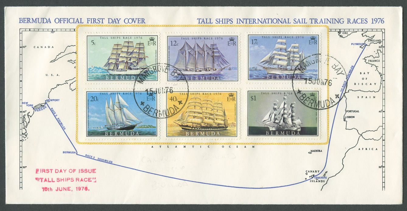 1976 Tall Ships Race FDC