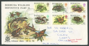 1979 Bermuda Wildlife Definitive Pt II FDC
