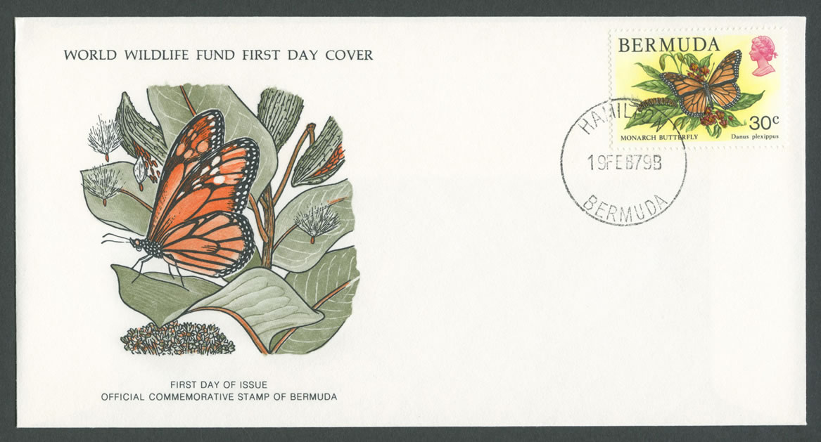 1979 WWF Monarch Butterfly 30c FDC