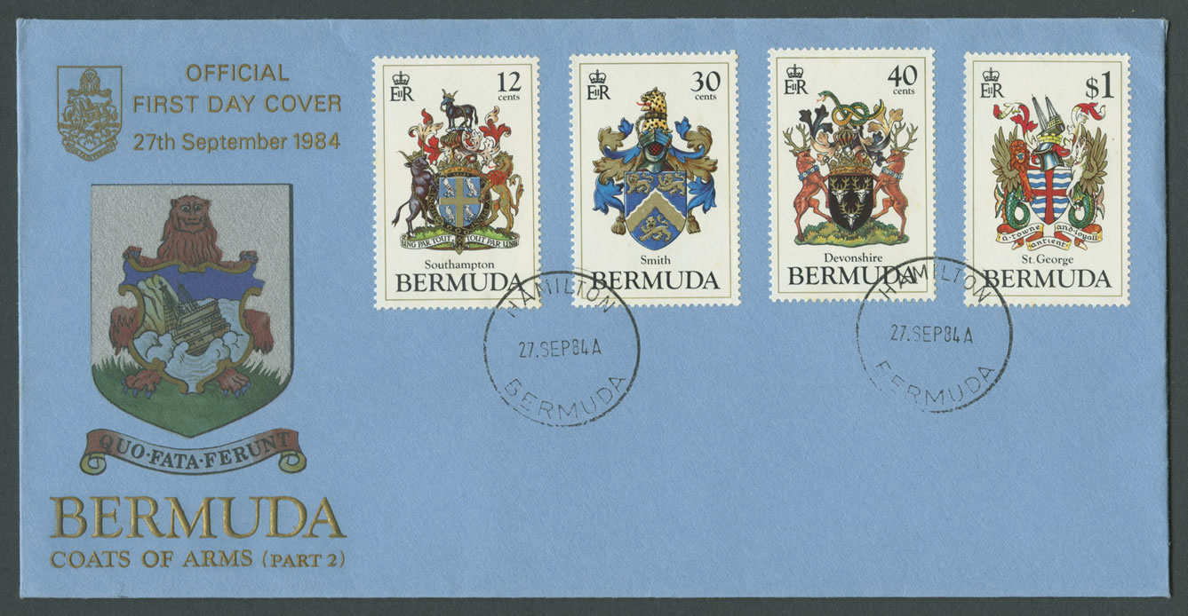1984 Bermuda Coats of Arms FDC