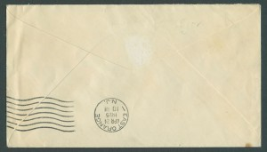 1925 First Overseas Airmail reverse CC