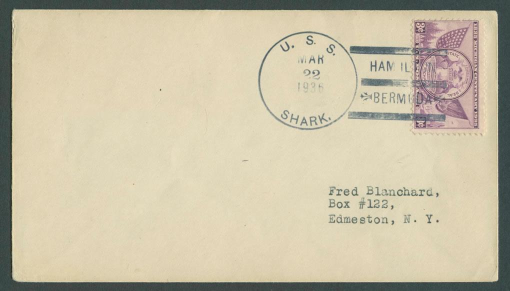 1936 USS Shark US Navy Submarine Cover