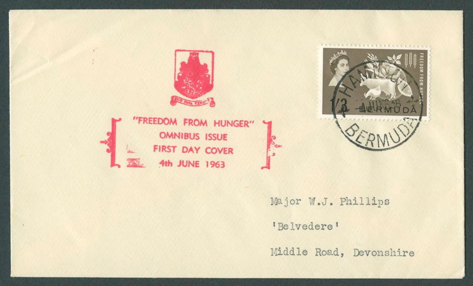 1963 Freddom from Hunger Omnibus issue FDC