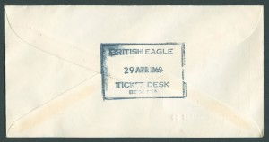 1968 British Eagle Inaugural Flight to Bermuda reverse FF
