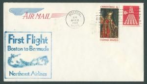 1969 First Flight Boston to Bermuda Northeast Airlines FF