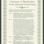 1977 Centenary of Membership of the Universal Postal Union insert FDC