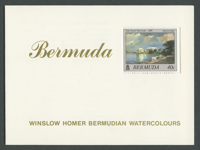 1987 Winslow Homer Bermudian Watercolours Booklet