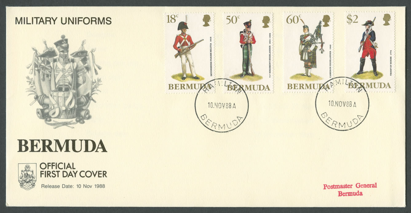 1988 Military Uniforms FDC