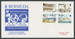 1990 Cable and Wireless Centenary FDC