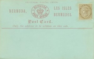 1880 Bermuda Post Card Stationery