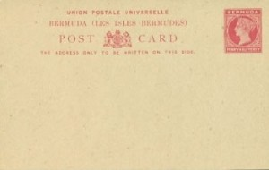 1885 Bermuda Post Card Stationery Foreign Rate