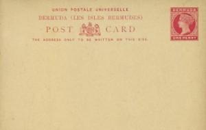 1893 Bermuda Post Card Stationery Foreign Rate