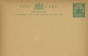 1903 Bermuda Post Card Stationery Inland Rate Dry Dock