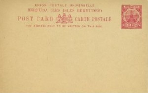 1903 Bermuda Post Card Stationery Foreign Rate Dry Dock