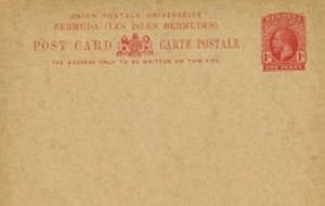 1913 Bermuda Post Card Stationery Foreign Rate KGV