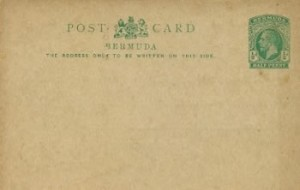1913 Bermuda Post Card Stationery Inland Rate KGV