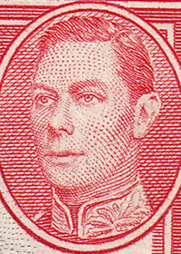 1938 King George VI Pictorials Portrait