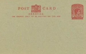 1940 Bermuda Post Card Stationery Foreign Rate KGVI