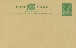 1940 Bermuda Post Card Stationery Inland Rate KGVI
