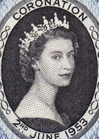 1953 Queen Elizabeth II Coronation Portrait