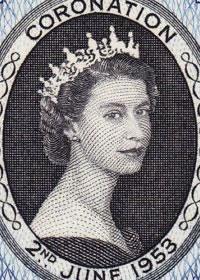 1953 Queen Elizabeth II Coronation Portrait