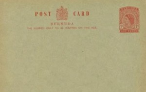 1955 Bermuda Post Card Stationery Inland Rate QEII