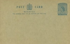 1965 Bermuda Post Card Stationery Foreign Rate QEII
