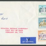 1970 Buildings Decimal Overprint FDC
