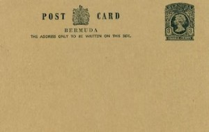1970 Bermuda Post Card Stationery Inland Rate QEII