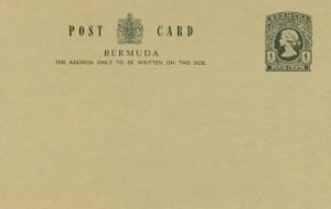1978 Bermuda Post Card Stationery Inland Rate QEII