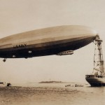 US Navy Airship Los Angeles and USS Pakota