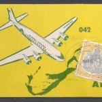 1951 Colonial Airlines ticket 12s6d tax