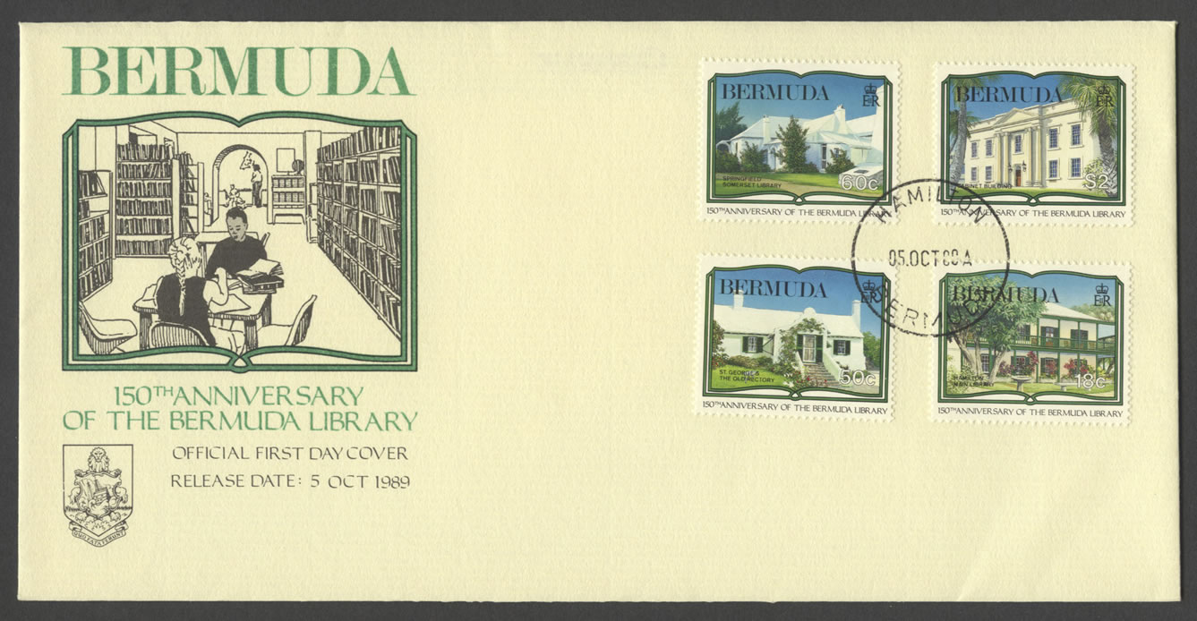 1989 150th Anniversary of the Bermuda Library FDC