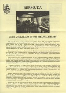 1989 150th Anniversary of the Bermuda Library liner FDC