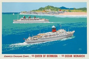 Poster by Adloph Triedler for Furness Bermuda Line