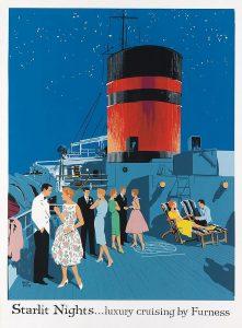 Poster by Adloph Triedler for Furness Bermuda Line